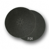 Silicon carbide abrasive plain sided, double face and hook and loop discs.